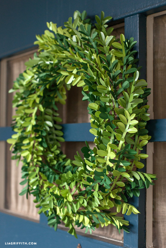 DIY_Paper_Boxwood_Wreath