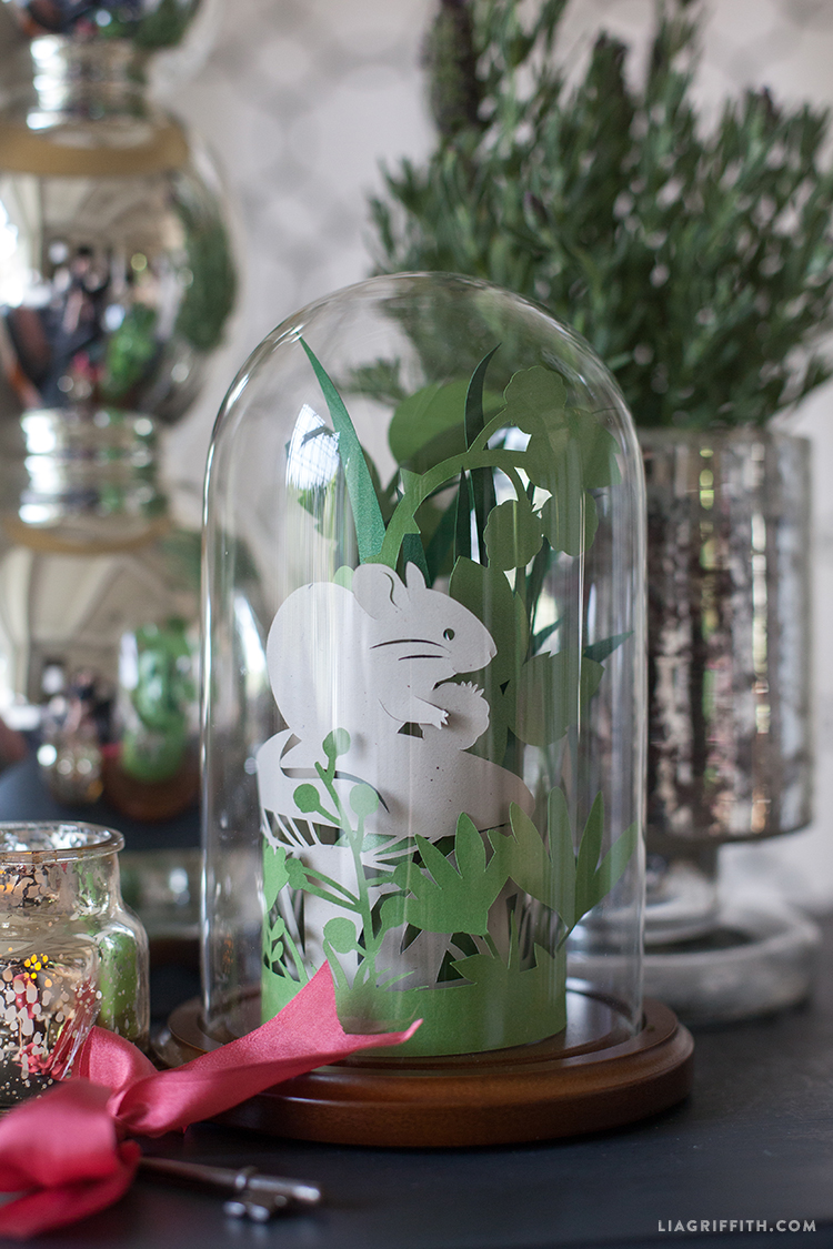 Papercut Spring Garden In A Glass Dome Lia Griffith