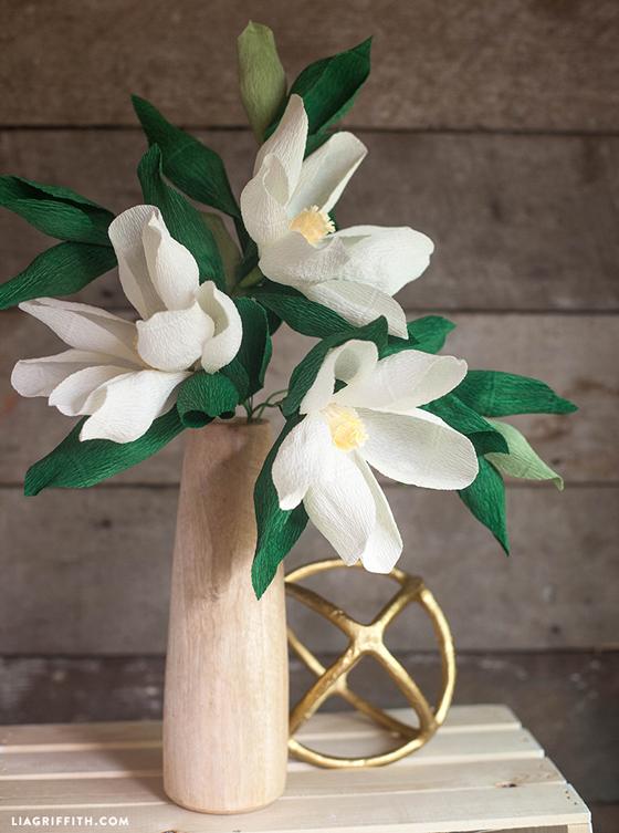 Diy Paper Magnolia Flower Lia Griffith