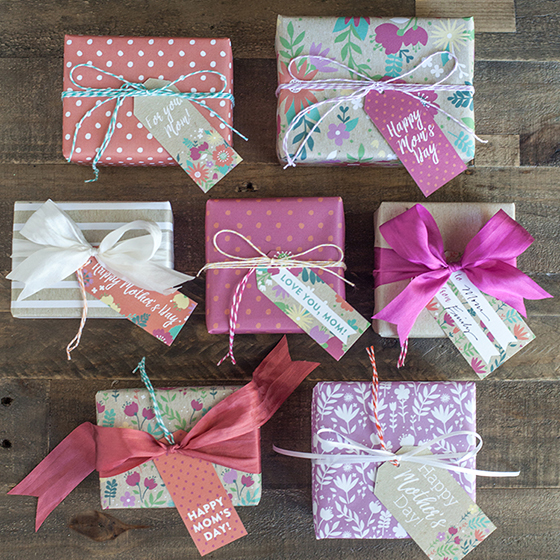 mother's day floral gift wrap