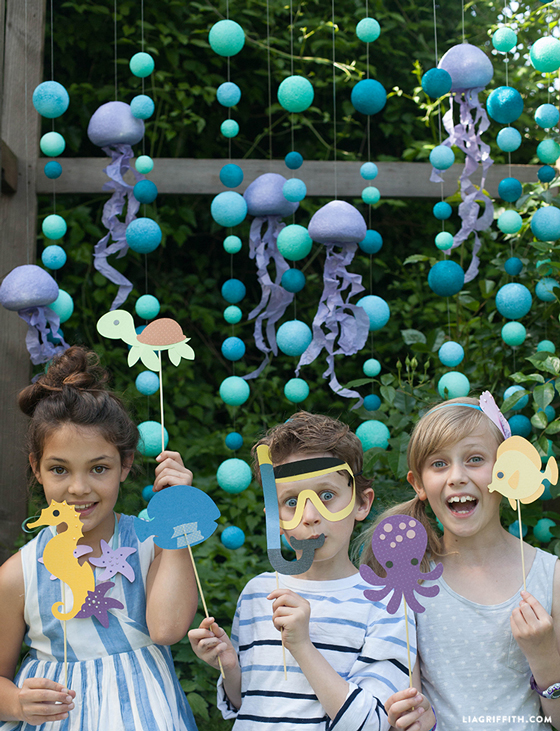 Under The Sea Photo Backdrop Party Props Lia Griffith