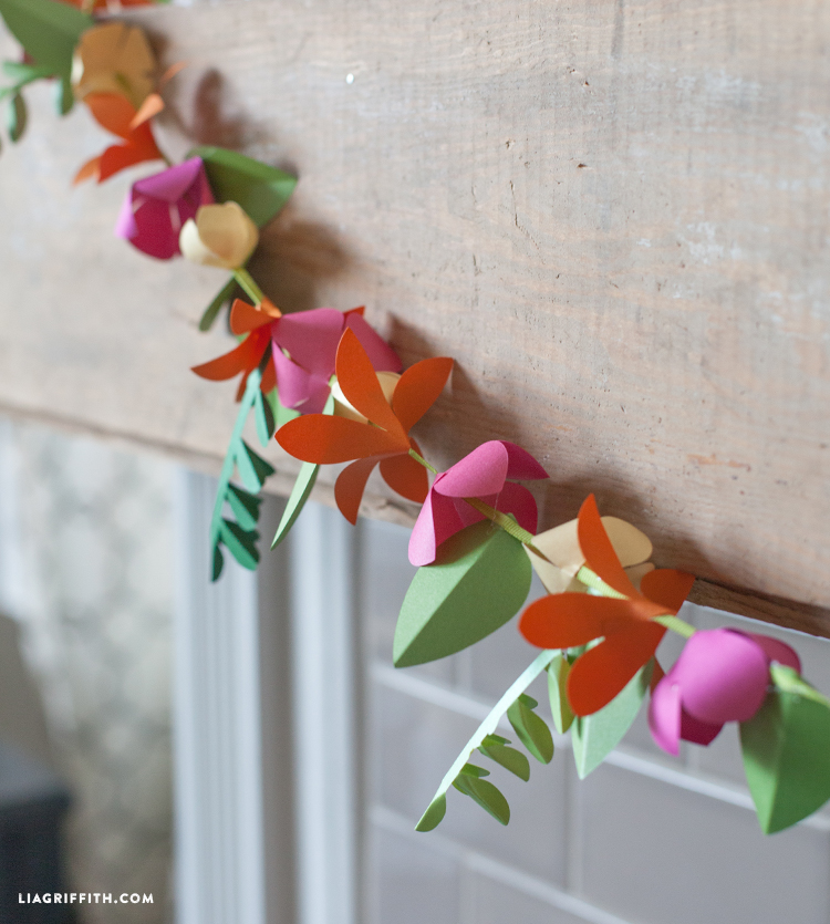 Spring paper flower garland lia griffith whatever you choose to do with you spring paper garland happy making and enjoy lia mightylinksfo