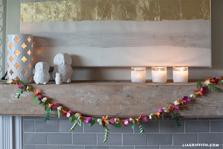 Spring Paper Flower Garland - Lia Griffith
