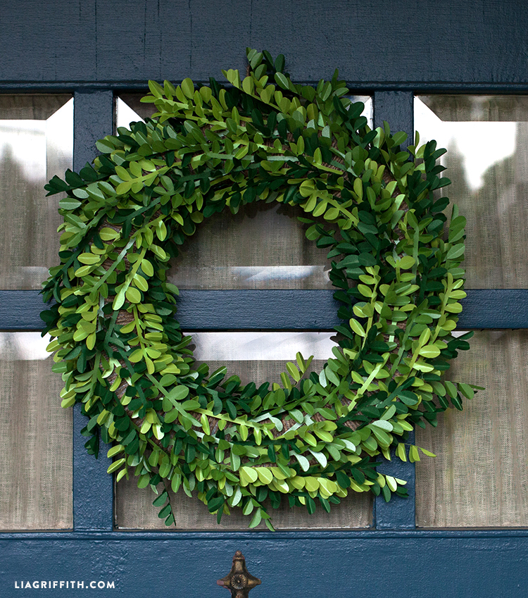 Diy Paper Boxwood Wreath For Spring Lia Griffith