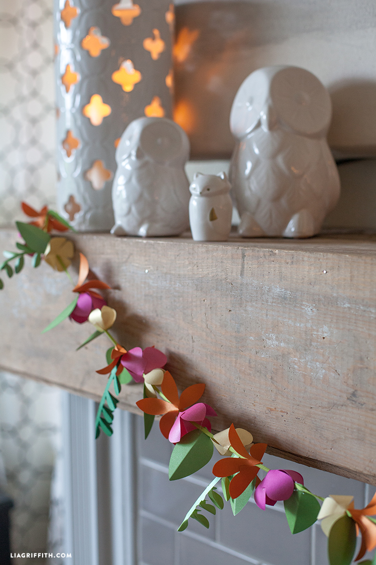 Spring paper flower garland lia griffith love it mightylinksfo