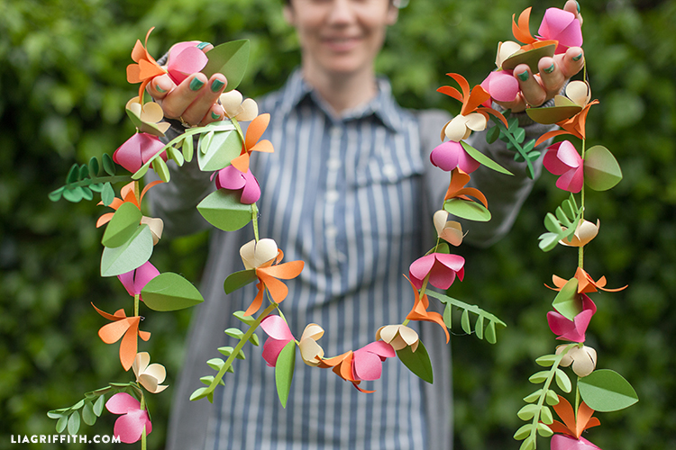 Spring paper flower garland lia griffith spring paper flower garland in diy parties mightylinksfo