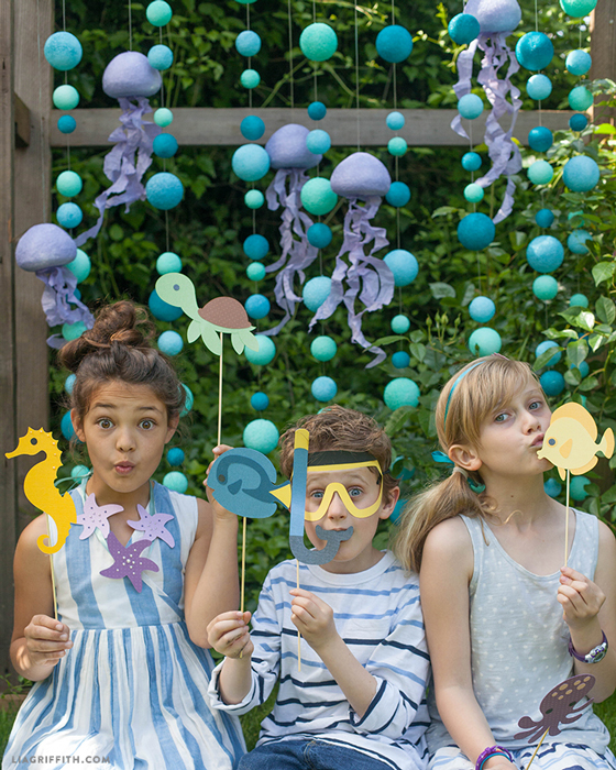 Double Time Kids Calendar : Under the sea photo backdrop party props lia griffith