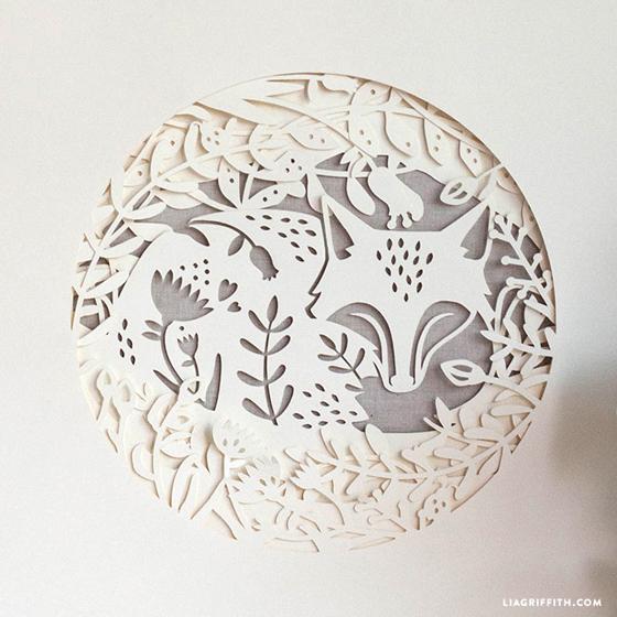 papercut summer fox artwork