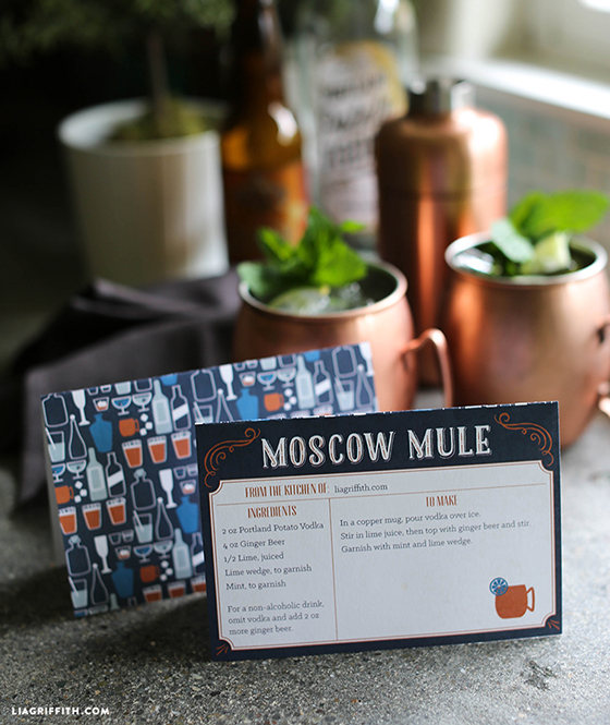image regarding Moscow Mule Recipe Printable identified as Moscow Mule Recipe - Lia Griffith