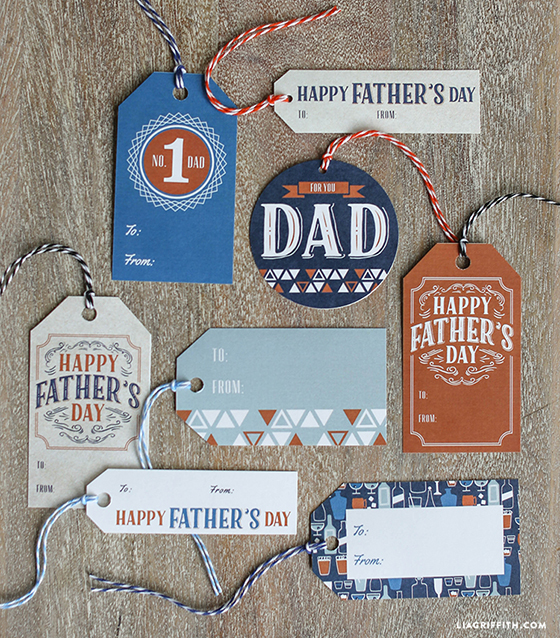 image regarding Free Printable Fathers Day Tags titled Printable Present Wrap for Fathers Working day - Lia Griffith