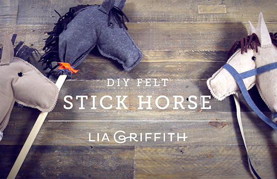 felt hobby horse by Lia Griffith