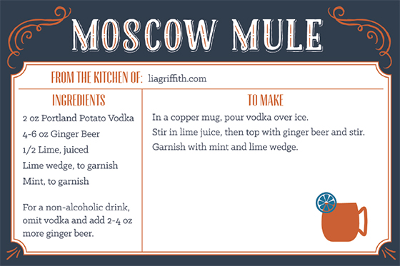 Moscow Mule Recipe - Lia Griffith