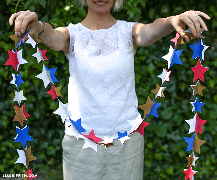 DIY Paper Star Garland