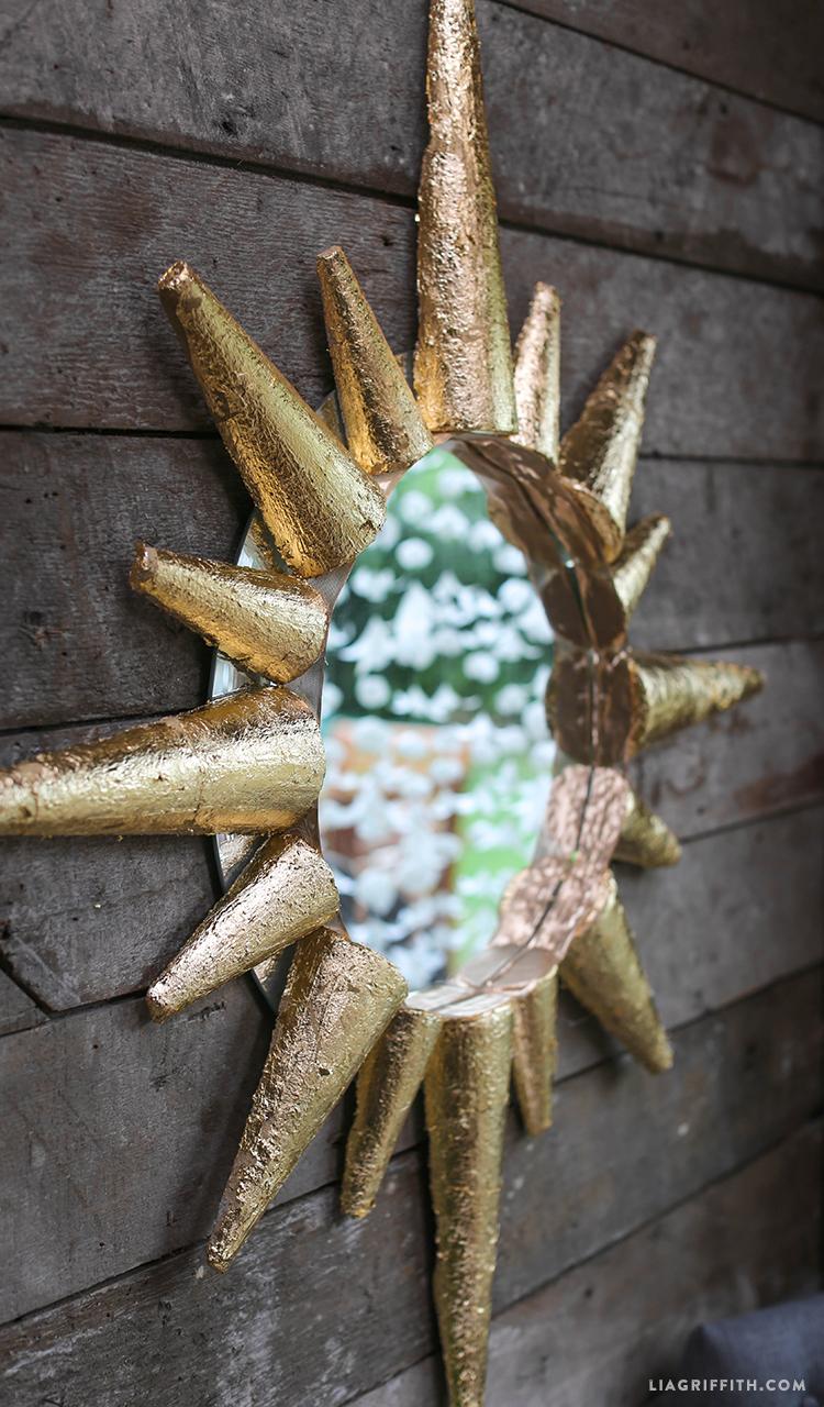 DIY Mirror Foam Sunburst