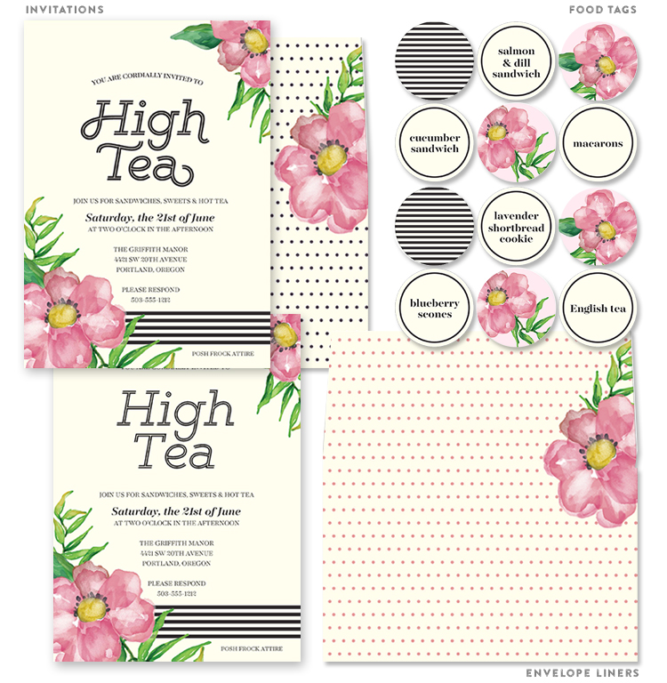 Printable High Tea Party Invitations - Lia Griffith
