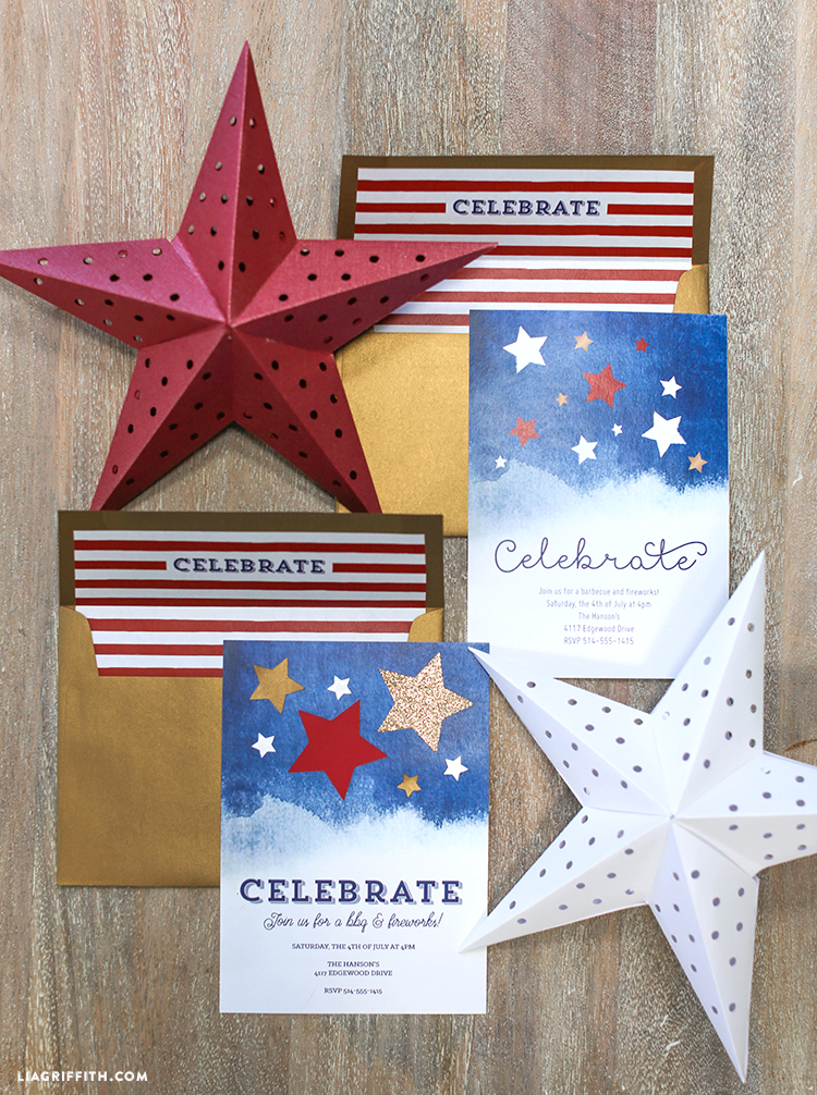 4th of july invitation lia griffith