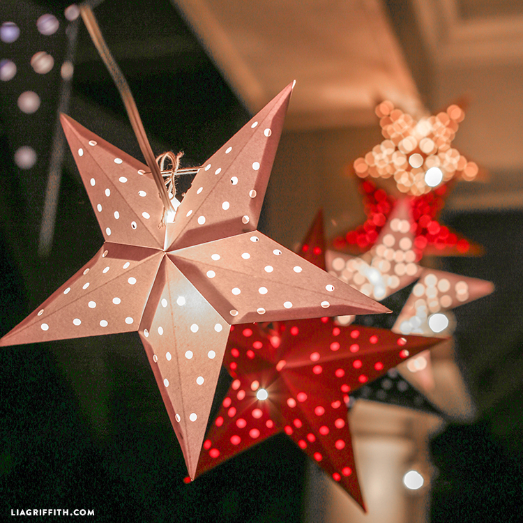 Paper Cut Star Garland