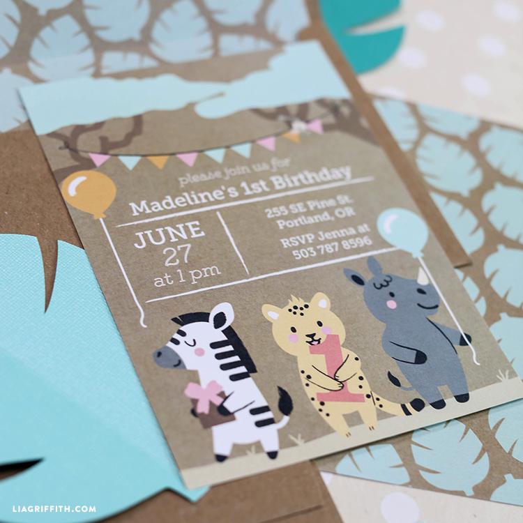 safari themed printable birthday invitations lia griffith