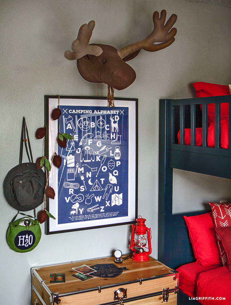 Camping_Room_Moose_Head_Alphabet_Poster