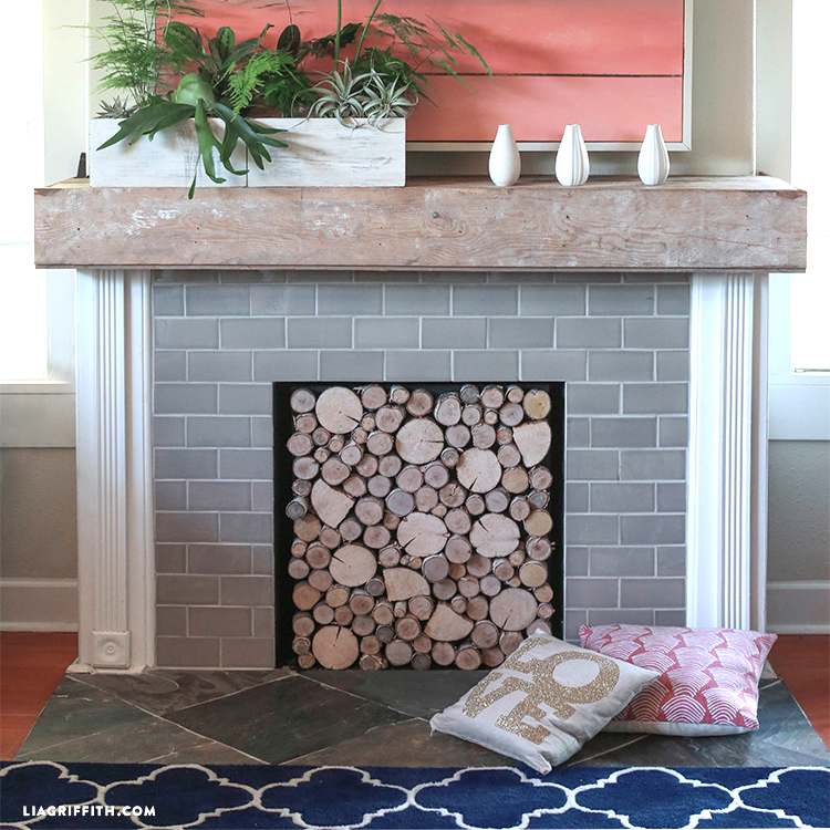 Hearth Covers: DIY Birch Wood Fireplace Cover