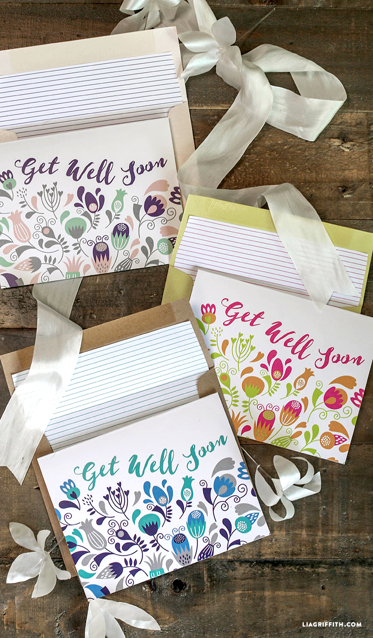 image relating to Free Printable Get Well Soon Cards named Printable Purchase Nicely Quickly Playing cards - Lia Griffith