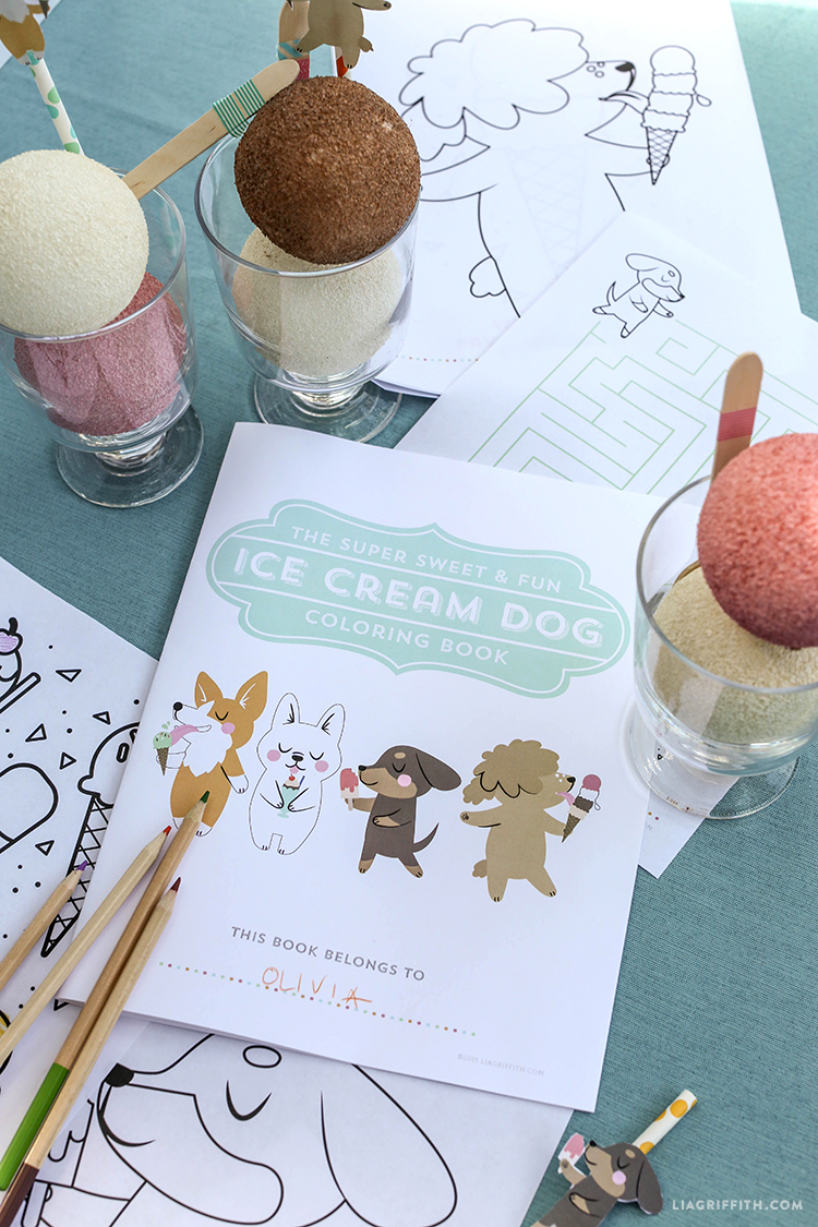 Ice Cream Coloring Book Dog Dogs Printable