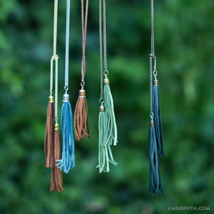 Diy Tassel Necklaces Lia Griffith