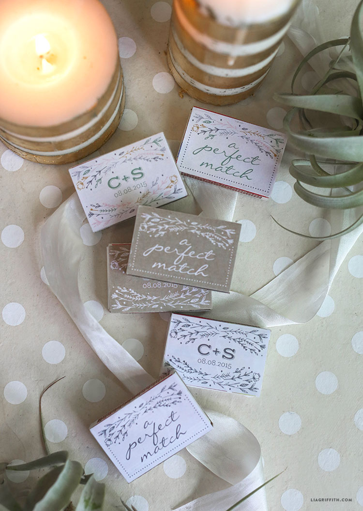 Personalized Wedding Matchbox Favors Lia Griffith