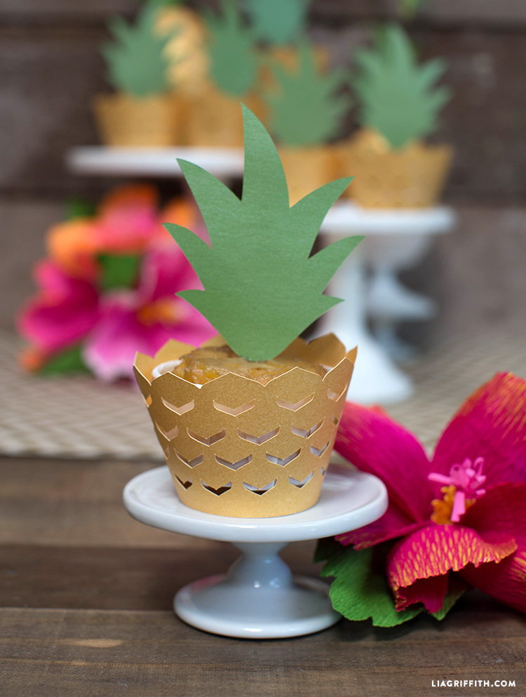 pineapple cupcake wrapper made out of paper