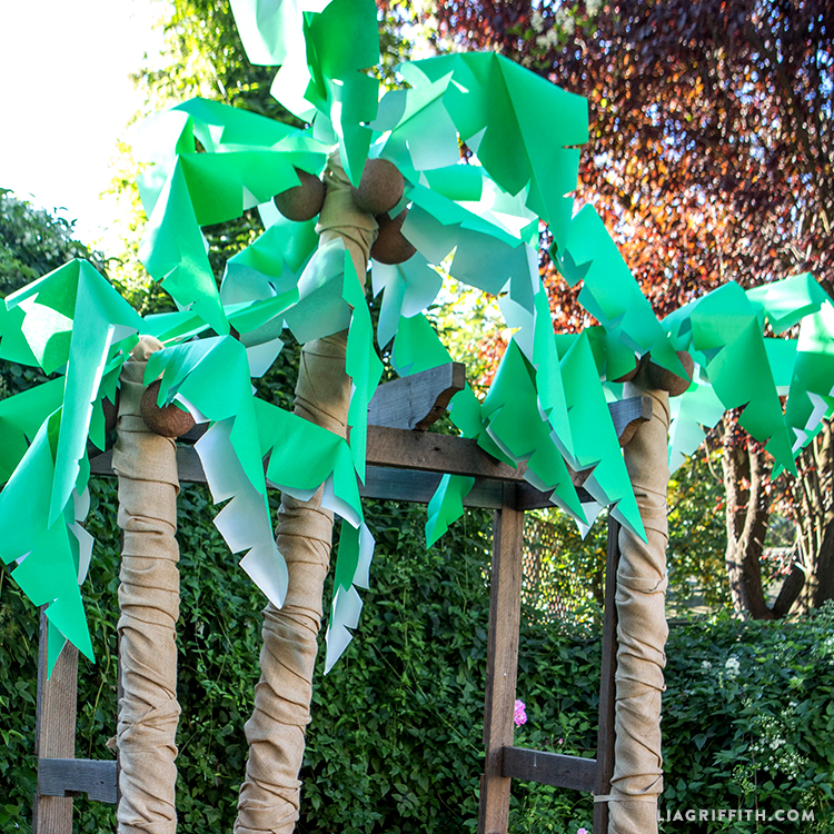 Diy palm tree party decor lia griffith for How to make home decorations