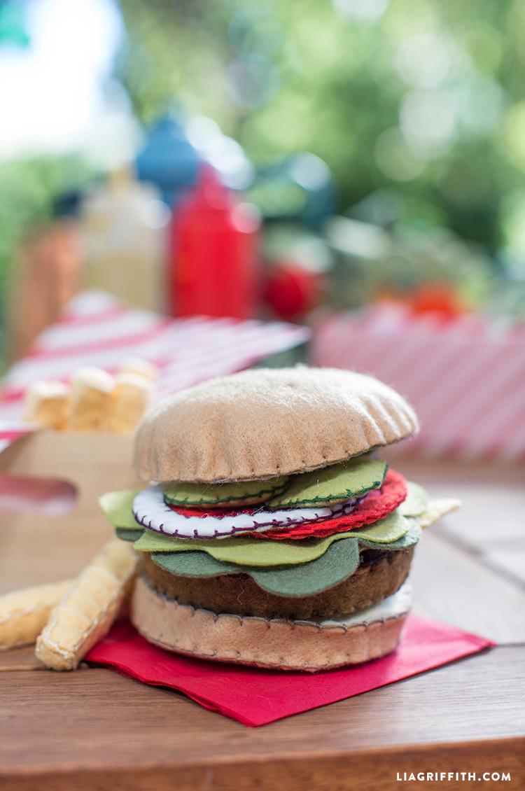 Felt Play Food Burger Lia Griffith