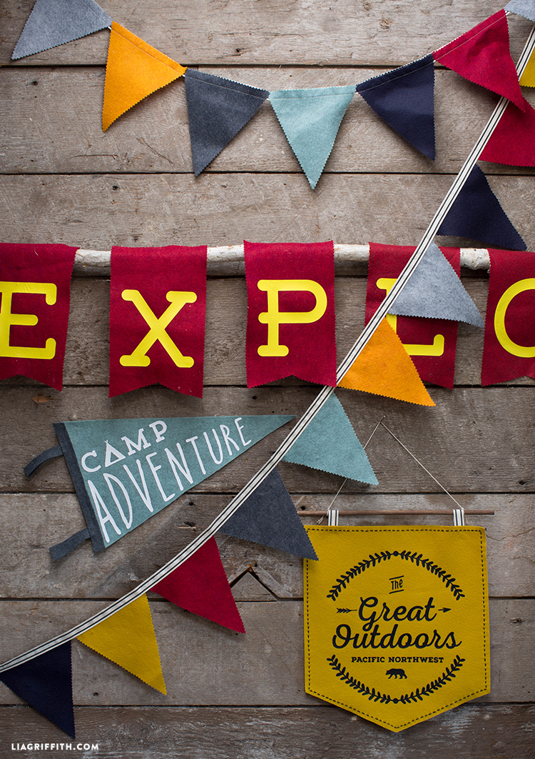 Diy Felt Camping Signs Lia Griffith