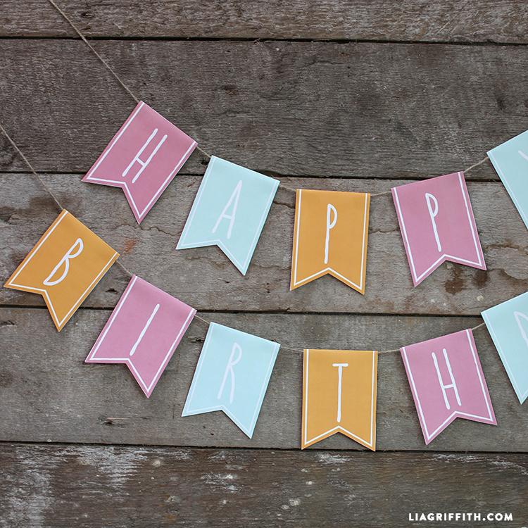 Paper Happy Birthday Banner