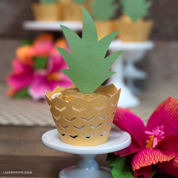 Pineapple Cupcake Decorations - Lia Griffith