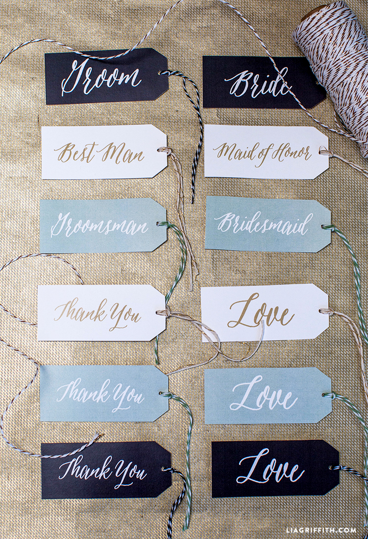 photo relating to Printable Gifts identify Printable Marriage Reward Tags - Lia Griffith