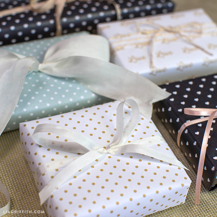 Parisian Style Wedding Wrapping Paper Lia Griffith