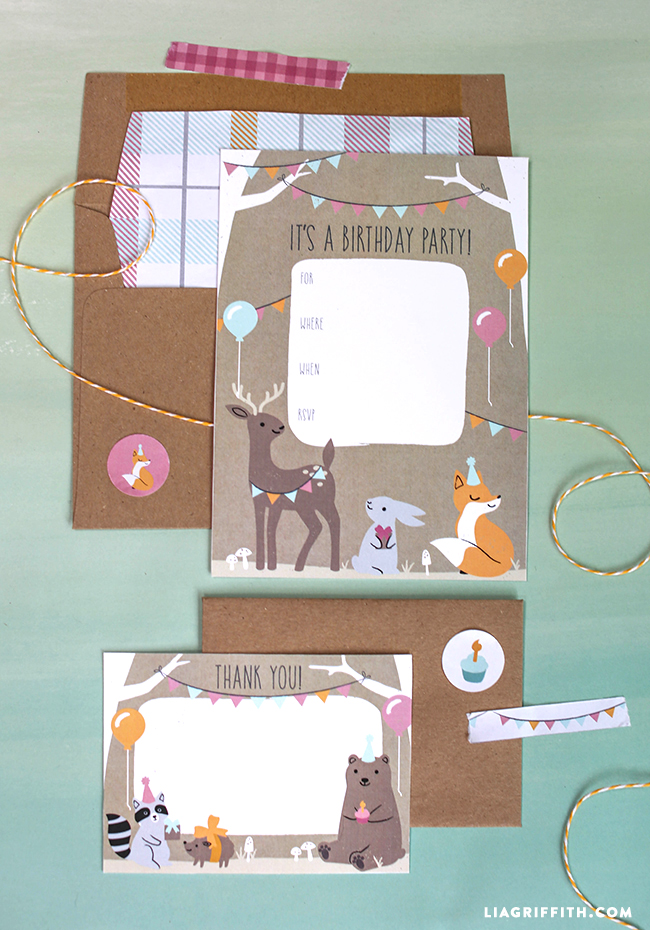 Woodland Animal Party Invitations - Lia Griffith
