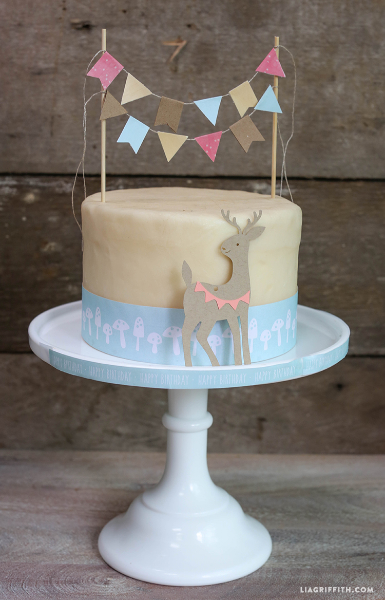 Woodland DIY Cake Bunting Topper