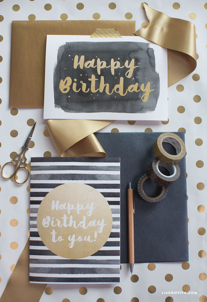 Card_Happy_Birthday_Gold_Black