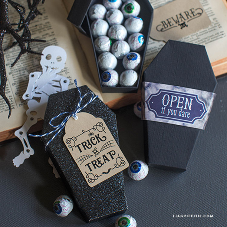 Diy Paper Coffin For Halloween Lia Griffith