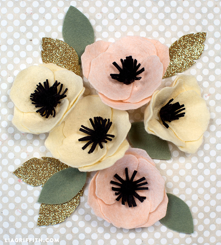 picture relating to Free Printable Felt Craft Patterns called Do it yourself Felt Flower Anemone - Lia Griffith