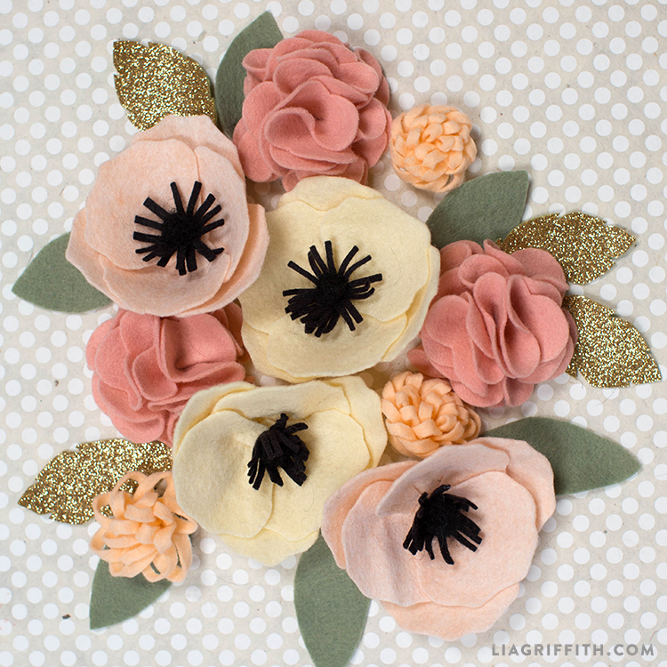 Diy Felt Flower Poms Lia Griffith