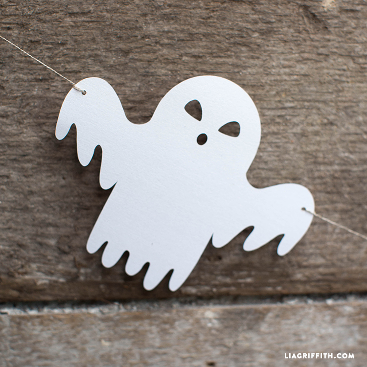 garland_halloween_characters batgarland ghostgarland catgarland bones_garland halloween_garland_papercut halloween garland pdf template - Halloween Decorations Paper