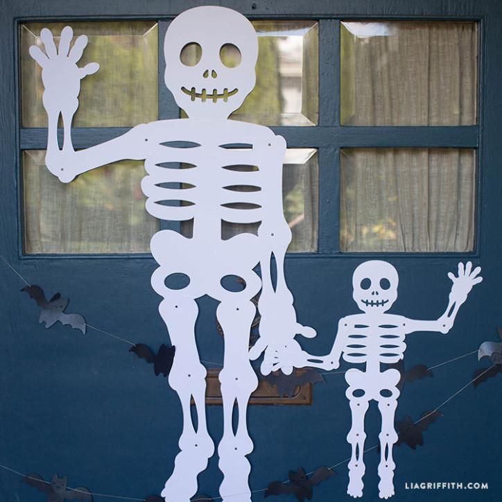 Mr. Paper Bones door decoration