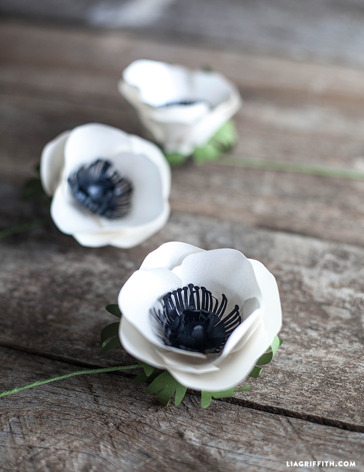 Simple Paper Flower Anemone Lia Griffith