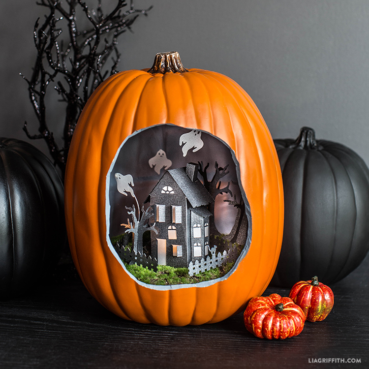 Paper Craft Haunted House Lia Griffith