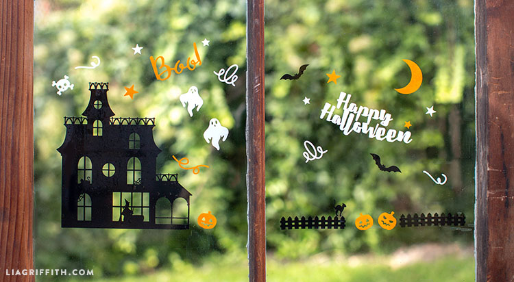 window cling orange window cling black window cling white cricut explore air halloween window clings