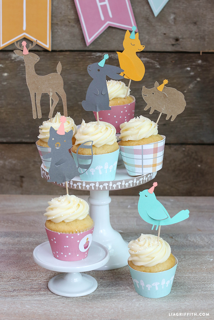 Woodland_Friends_Cupcake_Toppers