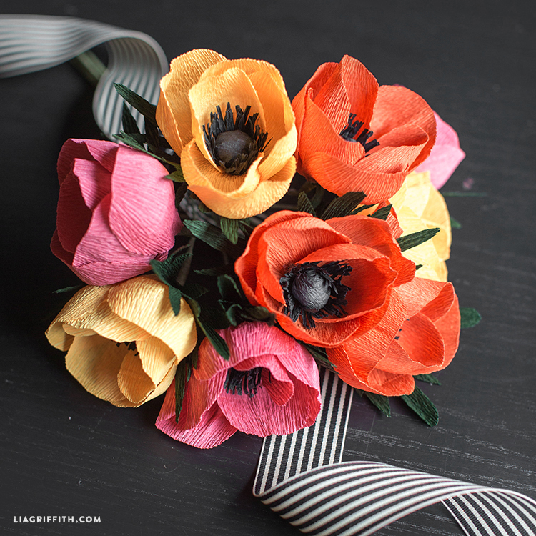 Very Simple Crepe Paper Anemone Lia Griffith