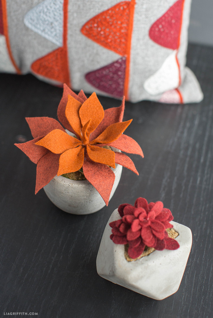DIY_Felt_Succulents